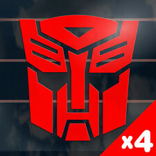 4 x TRANSFORMERS AUTOBOT Sticker 100mm toy optimus prime car window decal