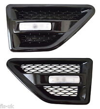 LAND ROVER FREELANDER 2 SIDE VENTS - BLACK INC REPEATERS-CLEAR - FL2SV-B-CR