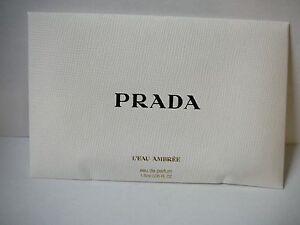 Prada L'Eau Ambree  EDP vial 1.5 ml splash sample size new&unused