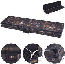 "49"" Long Aluminum Locking Rifle Gun Case Lock Shotgun Storage Box Carry Camo"