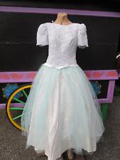 Ladies Vintage Ice Crystal Princess Halloween Costume Gown