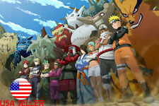"Naruto Gaara Killer Bee Fuu Kurama 36"" x 24"" Large Wall Poster Print Anime #82"