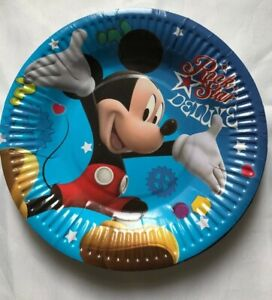 10 Birthday Party Plates Tableware, Mickey Mouse B