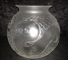 Lalique Xian Dragon Vase New Without Box 8 1/2 Inches High