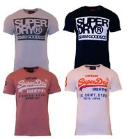 Superdry Mens New Logo Short Sleeve Crew Neck Print T-Shirt Black White Grey