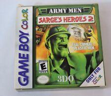 Army Men Sarge's Heroes 2 Nintendo Game Boy Color CIB Complete in box