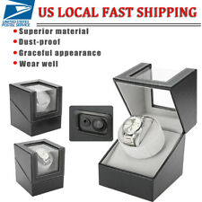 Storage Display Case Box Holder Single Automatic Rotation Wood Watch Winder
