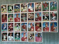 1991 CINCINNATI REDS Topps COMPLETE Baseball Team Set 30 Cards LARKINx2 DAVIS!