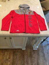 Adidas NBA Chicago Bulls Climawarm Mens M Full Zip Long Sleeve Hooded Jacket