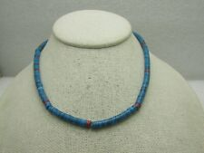 Vintage Southwestern Faux Turquoise Heishi Style Necklace, 15.5, 4.5mm