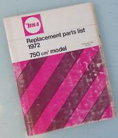 BSA MOTORCYCLE FACTORY MANUAL BOOK A75 R 1971-1972 ROCKET THREE 3 750cc