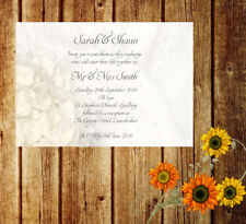 Personalised Handmade Wedding Invitations Invites Day Evening Vintage x 50 AW5