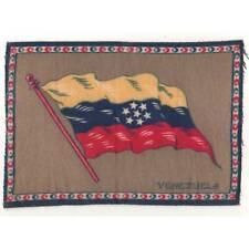 "Tobacco Flag Venezuela 1900's flannel-felt 8""x5.25"" cigar/cigarette premium ᵇ F1"