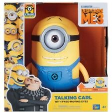 """TALKING MINION CARL 7.25"""" ACTION FIGURE WITH 15 SOUNDS DESPICABLE ME 3 **NEW**"""