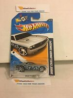 DODGE CHALLENGER concept #153* Silver w flames * 2012 Hot Wheels * A18