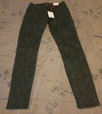 Elle - Womens Gray Lace Patterned Super Skinny Denim Jeans - Size 2 - NWT
