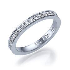 0.7ct F/VS Diamond Pave Wedding Band Ring 950 Platinum SIZE 5.25