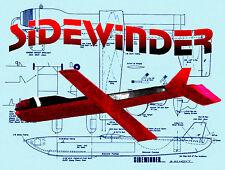 "Build a Control Line Dynajet Speed Plane Sidewinder Span 22"" F/S printed plans"
