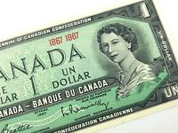 One 1967 Banknote Canada 1 Dollar Uncirculated Q168