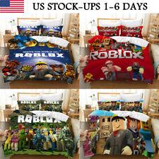 US ROBLOX 3PCS Bedding Set Duvet Cover Pillowcases Comforter Cover Set Kids Gift