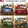 US ROBLOX 3PCS Bedding Set Duvet Cover Pillowcases Comforter Cover Set Kids Gift
