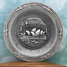 Sydney Australia Souvenir Pewter Mini Plate Australiana Gift, Australian Made