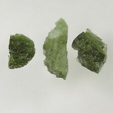 37.25 cts green moldavite tektite specimens lot Czech Republic