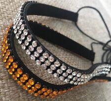 Diamante Crystal Stretch Elastic Head Band Hair Hijab Costume Jewellery Lady BN
