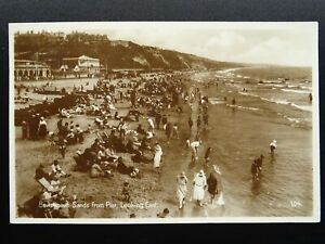 Dorset BOURNEMOUTH SANDS from Pier Looking East c1920s RP Postcard