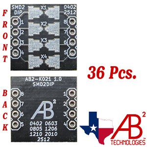 402/0603/0805/1206/1210/2010/2512 Black PCB Adapter Board SMD to DIP Panel of 36