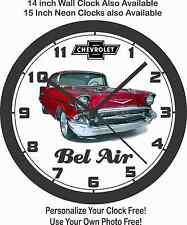 1957 CHEVROLET BEL AIR WALL CLOCK-Choose 1 of 4 & Free USA Ship!