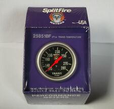 Splitfire transmission temperature gauge, black face (67mm) 100-280F, 25851BF