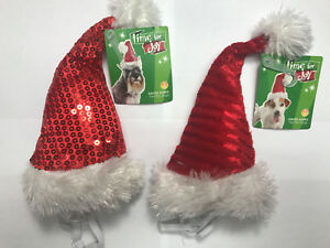 Time for Joy Santa PAWS Hat for DOGS Christmas Costume S/M CHOOSE YOUR STYLE NEW