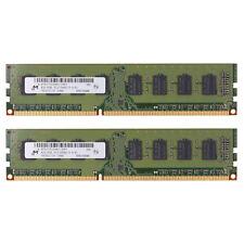 For Micron 8GB 2X4GB DDR3 1600 MHz PC3-12800 DIMM PC Desktop Memory Intel Ram