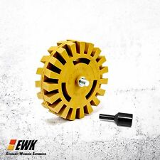 Eraser Wheel w/ Arbor Pinstripe Disc Rubber
