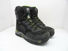 "Helly Hansen Men's 8"" Super Resilient Steel-Toe Steel-Plate Work Boots Black 10M"