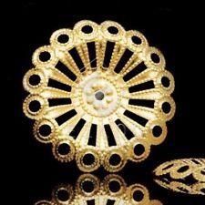 20pcs Gold Flower big Bead Caps 25x25mm Raw Brass MB0581