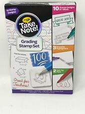 New Crayola Take Note Grading Stamp Set Great Holiday Gift Kids Stationary