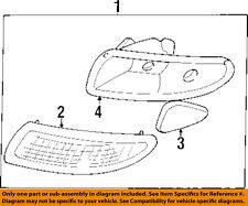 Pontiac GM OEM 97-03 Grand Prix-Park & Side Lamp Right 16521834