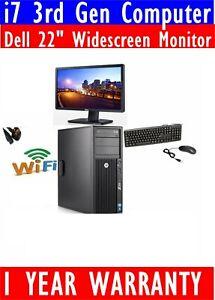 "HP Z220  i7 3770 3RD GEN COMPUTER PC 1TB SSD 32GB RAM DELL 22"" WIDESCREEN TFT"