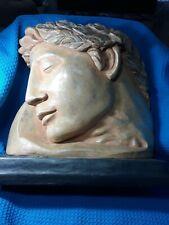 """ALEXANDER the GREAT Head Bust Greek Resin Cast  Statue Sculpture  15"""" H x 13 W"""