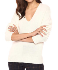 Theory Cashmere Sweater V neck Pullover Ivory Cream L; NWT$395 SALE