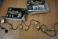 Vintage 2 Sets of 10 GE Halloween Skeleton String Lights Spooky Scary Tested