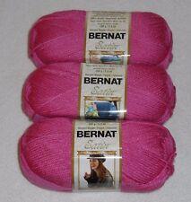 Bernat Satin Yarn Lot Of 3 Skeins (MaiTai #04732)