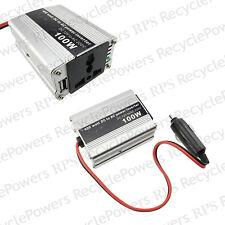 100W DC12V to AC 220V Car Cigarette Lighter Power Inverter Converter USB Plug