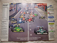 1991 GM LOTUS EURO SERIES POSTER ADVERT READY TO FRAME A4 X2 SIZE