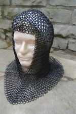 NEW Medieval Knights Butted Steel Chain Mail Coif Head Armor Helmet Liner