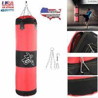 0.6m//0.8m//1m//1.2m Boxing Kicking Punching Bag Hanging UnFilled Heavy Sandbag❤GS