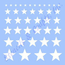 "STARS STENCIL ASSORTED SHAPES STAR BORDERS CRAFT TEMPLATE PAINT ART NEW 10"" X 8"""