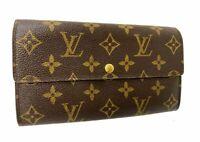 Louis Vuitton Monogram Browns Portefeuille Sarah Long Wallet LV 59827572
